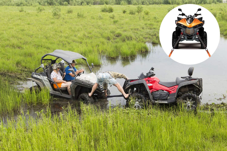 UTV Motocicleta y Gallo HENTEK Correas de Amarre 12 Piezas Correas de trinquete para trituradoras ATV Bajas