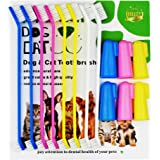 XiangLv Dog Toothbrush Cat & Dog Finger Toothbrush Soft Bristle Pet Toothbrush Combo Pack For The Dental Care of Your Small to Large Dogs, Cats, Most Pets
