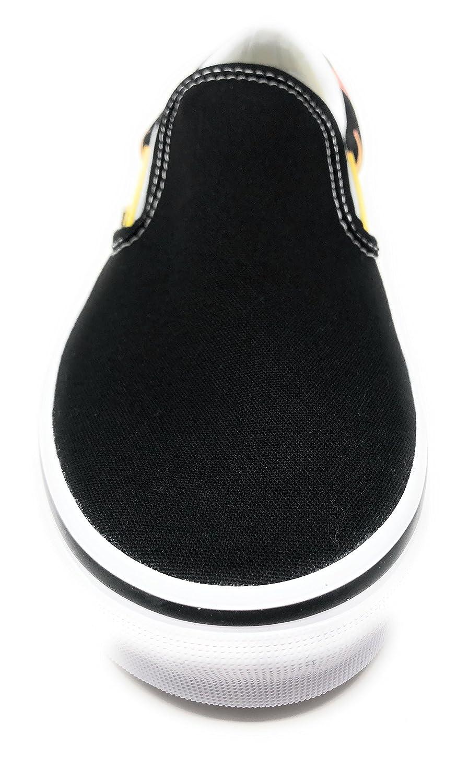 Vans Unisex Classic (Checkerboard) Slip-On Skate Shoe B01N7UJAT1 6.5 M US Women / 5 M US Men|Flame Black