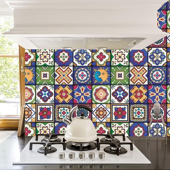 Amazon.com: RoyalWallSkins - Adhesivos para azulejos de 4 x ...