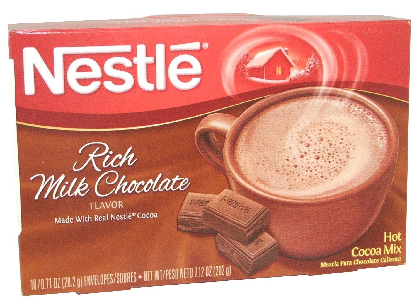 Amazon.com : Nestle Hot Cocoa Mix, Rich Chocolate, 10-Count ...