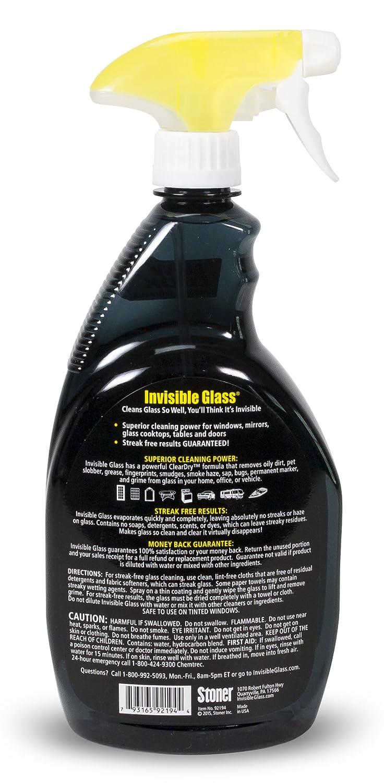 amazon com stoner 92194 invisible glass cleaner 32 oz spray