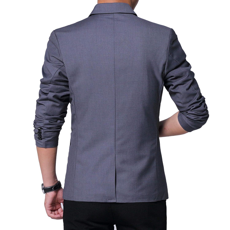 Amazon.com: Blazers de bolsillo con parche de un botón para ...