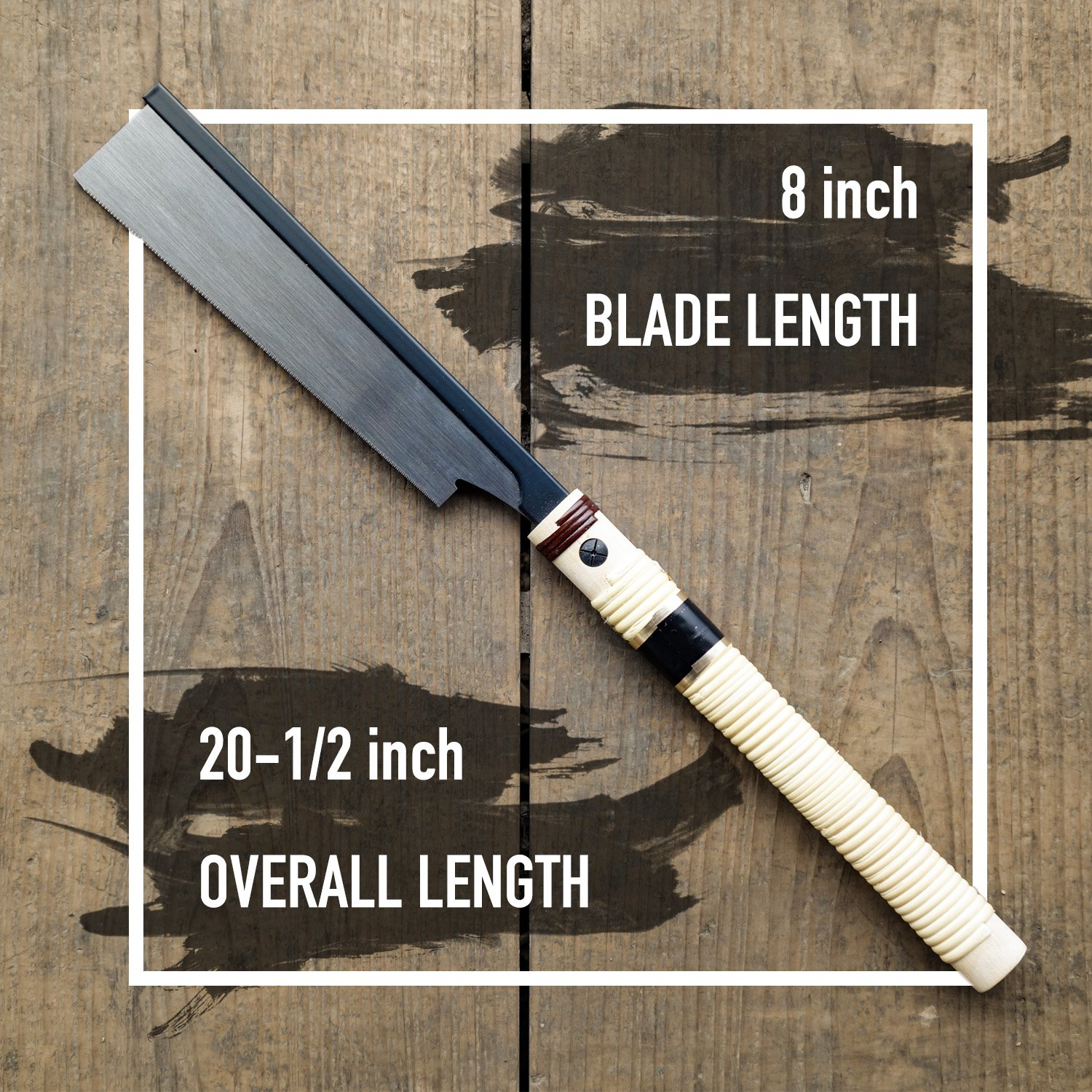 SUIZAN Japanese Hand Saw 8 Inch Ultra Fine Cut Dozuki Dovetail 0.2mm Blade Pull Saw for Woodworking by SUIZAN (Image #2)