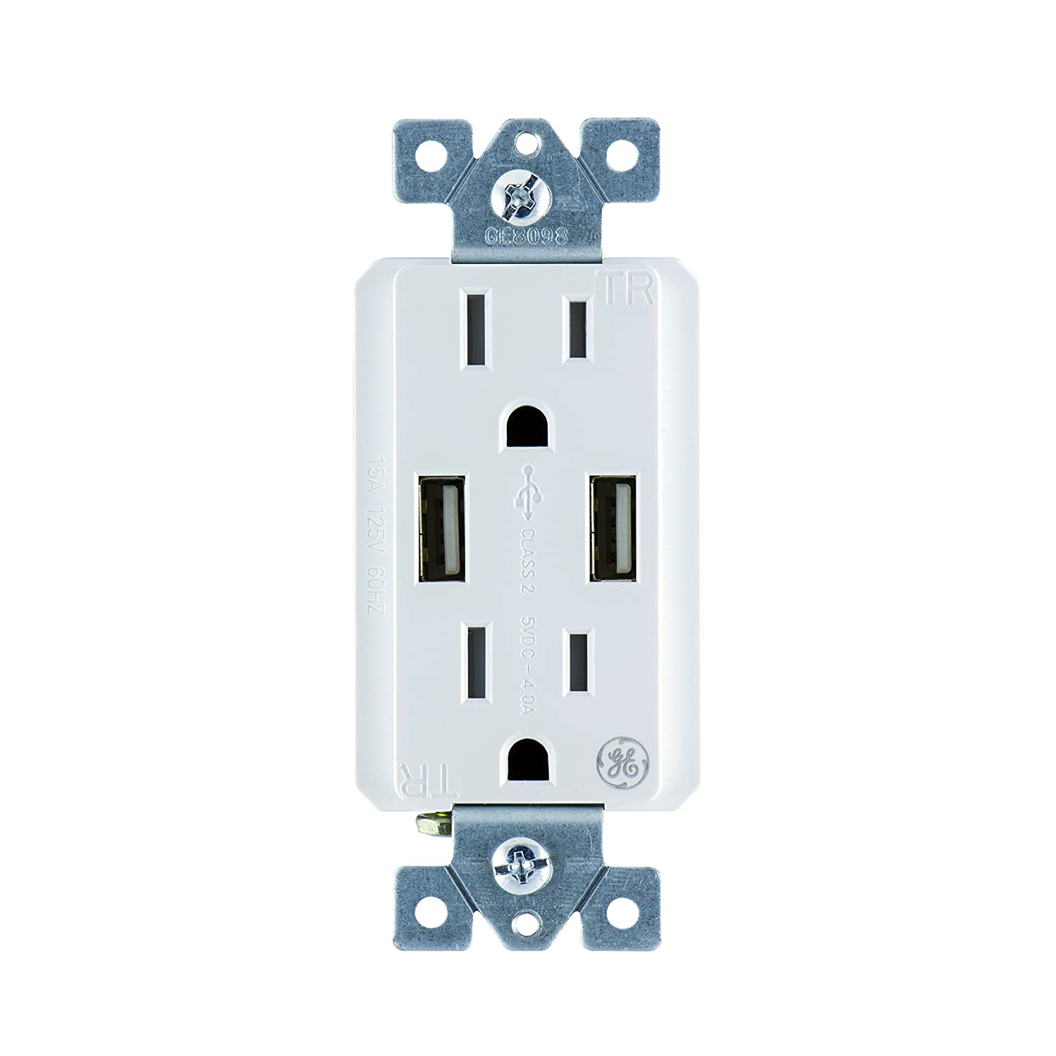 ge 4 amp high speed dual usb charger outlet 15a tamper resistant rh amazon com