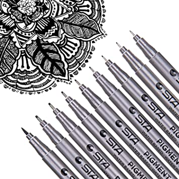 Drawing Multi Size Painting Fineliner Pigment Liner Art Marker Pen Water Based
