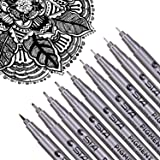Dyvicl Black Micro-Pen Fineliner Ink Pens - Precision Multiliner Pens Micro Fine Point Drawing Pens for Sketching, Anime, Man