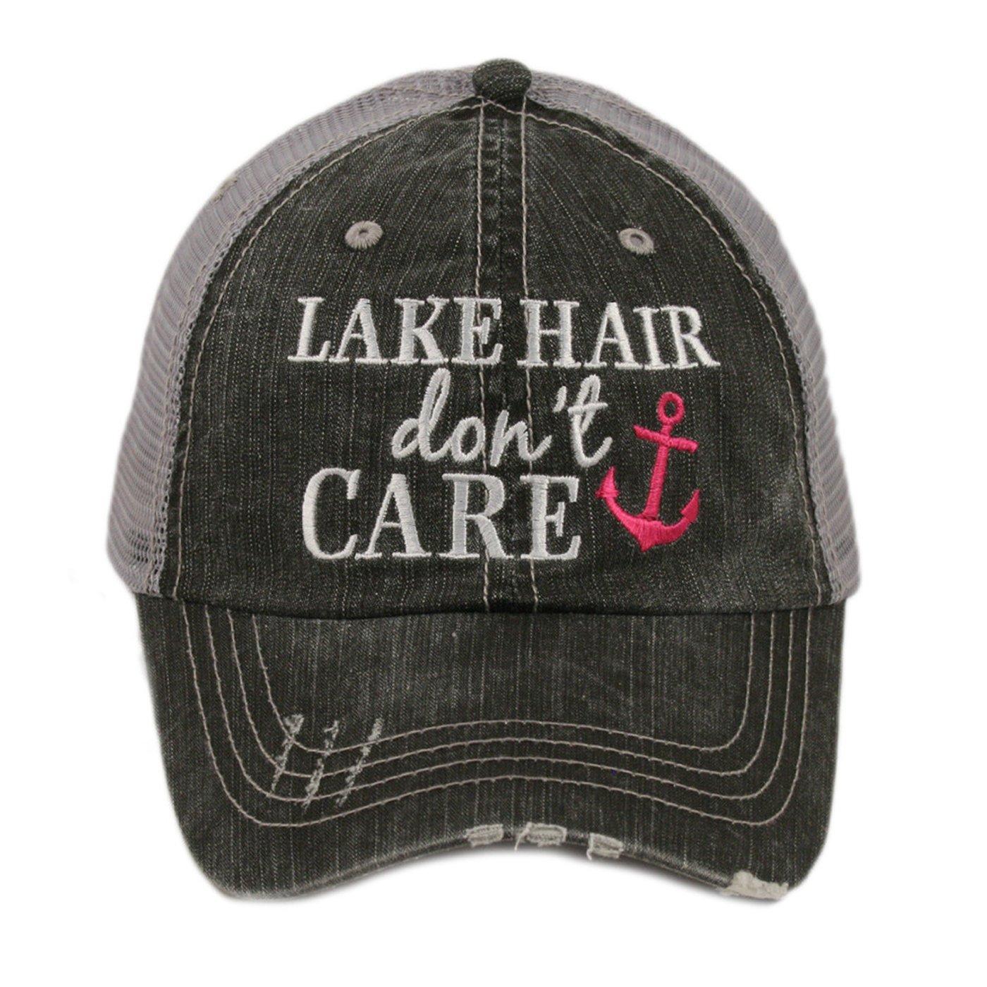 KATYDID Lake Hair Don't Care Women's Distressed Trucker Hat