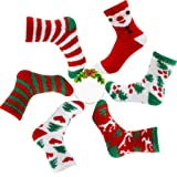6 Pairs Women's Fuzzy Christmas Socks Soft Plush Home Slipper Socks Microfiber Cozy Winter Warm Sock, Gift For Holiday