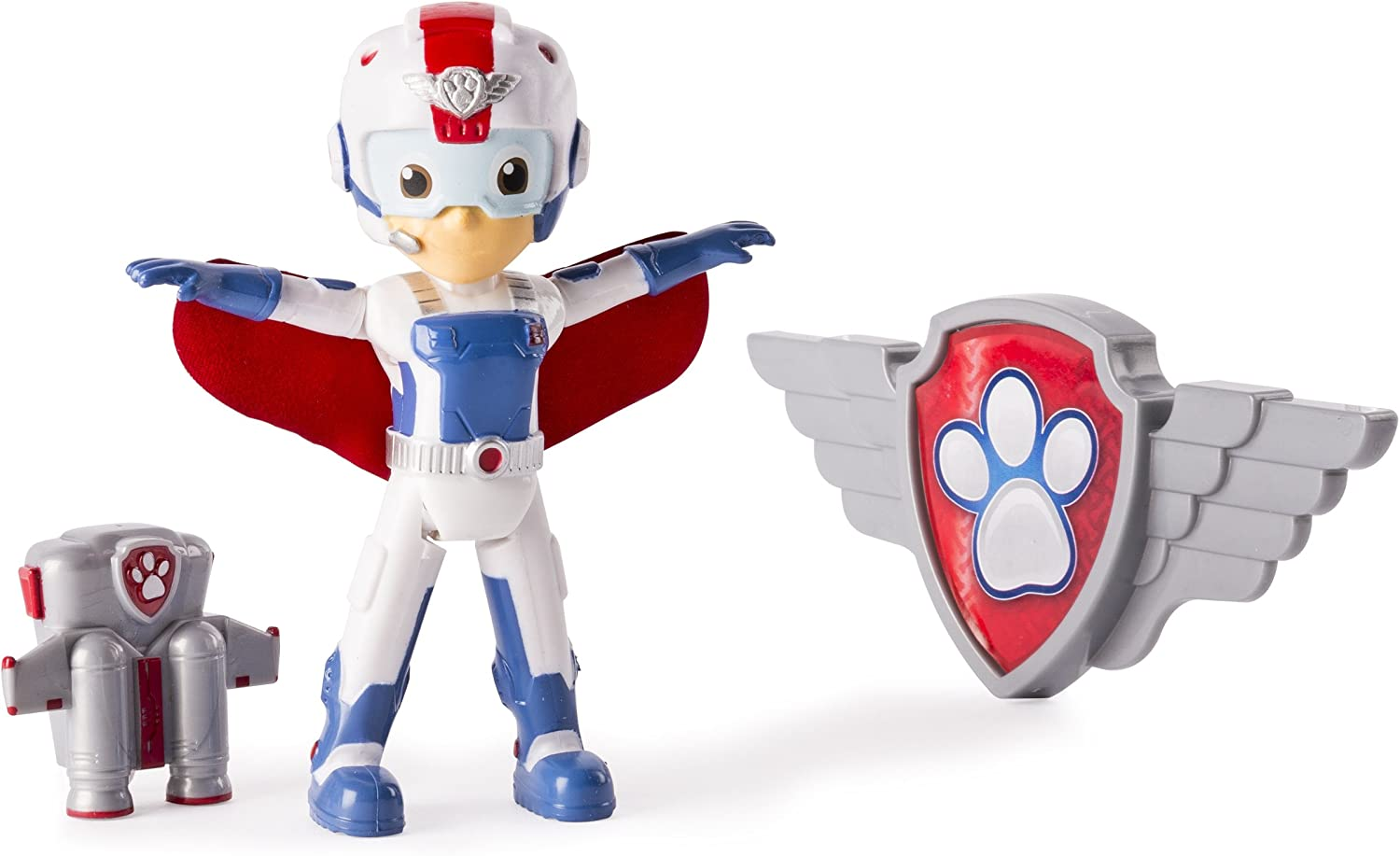 Paw Patrol, Air Rescue Ryder Figure, Removable Pack & Badge