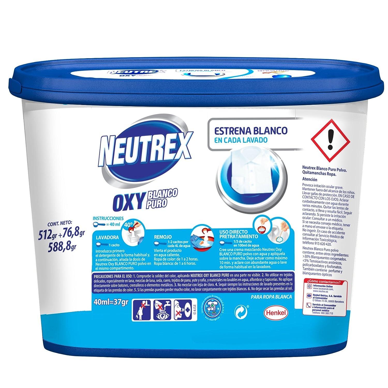 Neutrex - Oxy Blanco Puro Quitamanchas Sin Lejía - 512 g: Amazon.es: Alimentación y bebidas