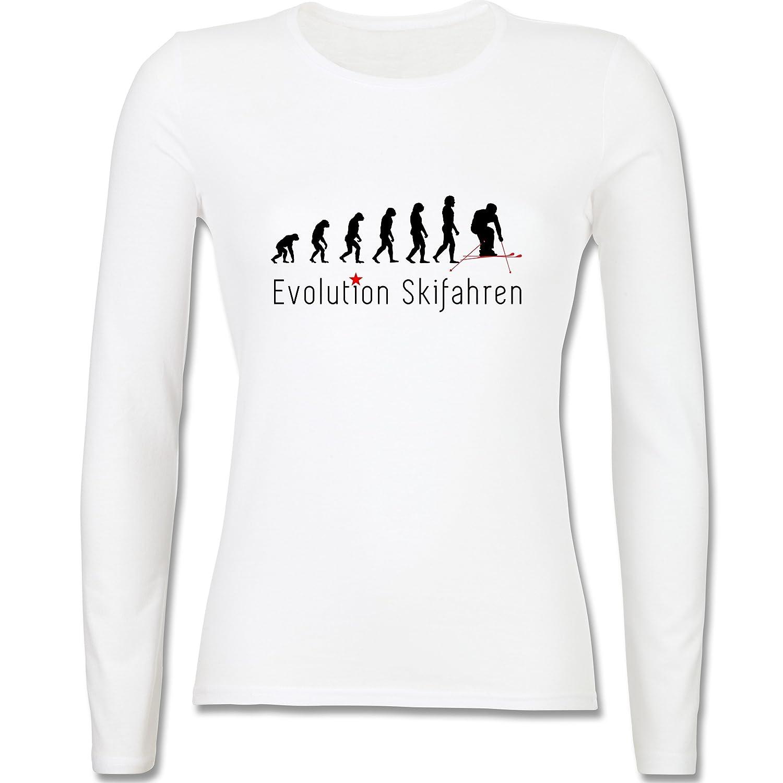 Evolution - Skifahren Evolution - tailliertes Longsleeve / langärmeliges T-Shirt für Damen