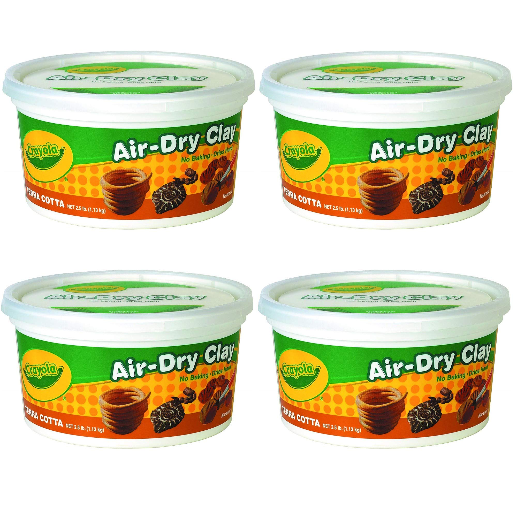 Bulk Buy: Crayola Air Dry Clay Terra Cotta (4 - Pack)