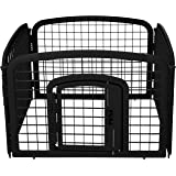 AmazonBasics 4-Panel Plastic Pet Pen Fence Enclosure With Gate