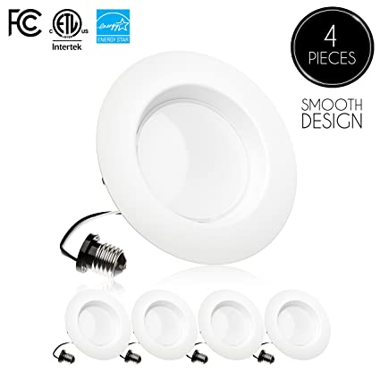 parmida 4 pack 5 6 inch dimmable led downlight 15w 120w