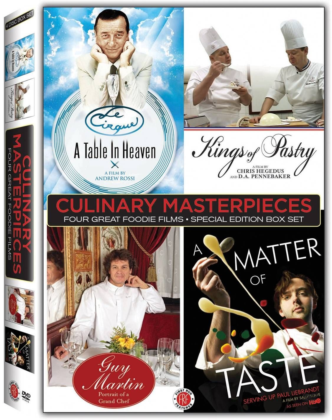 DVD : Guy Martin - Culinary Masterpieces: Four Great Foodie Films (Boxed Set, Widescreen, 4PC)