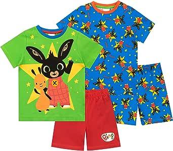 Bing Pijamas de Manga Corta para niños 2 Paquetes
