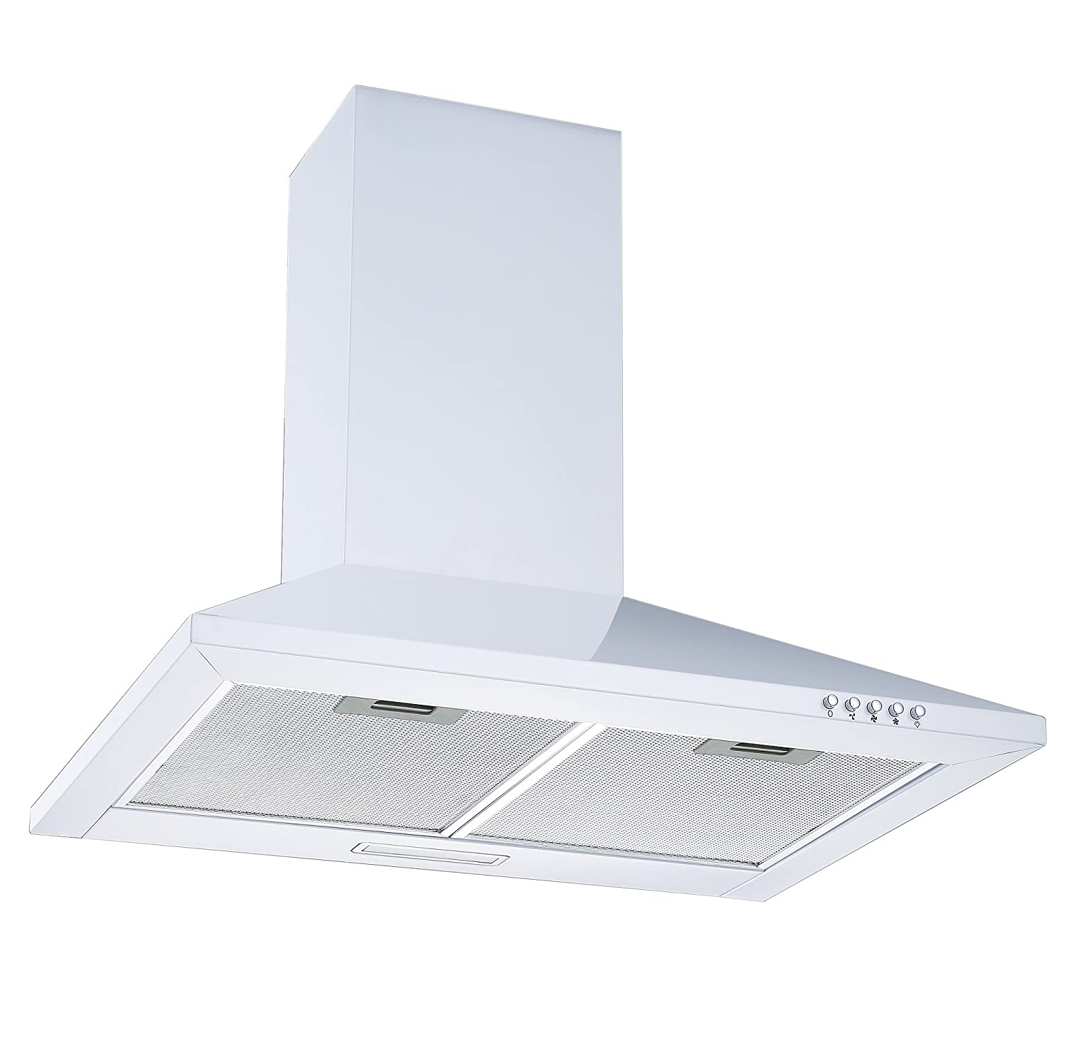 White 60cm Chimney Cooker Hood | Cookology CH600WH Unbranded Extractor Fan in White