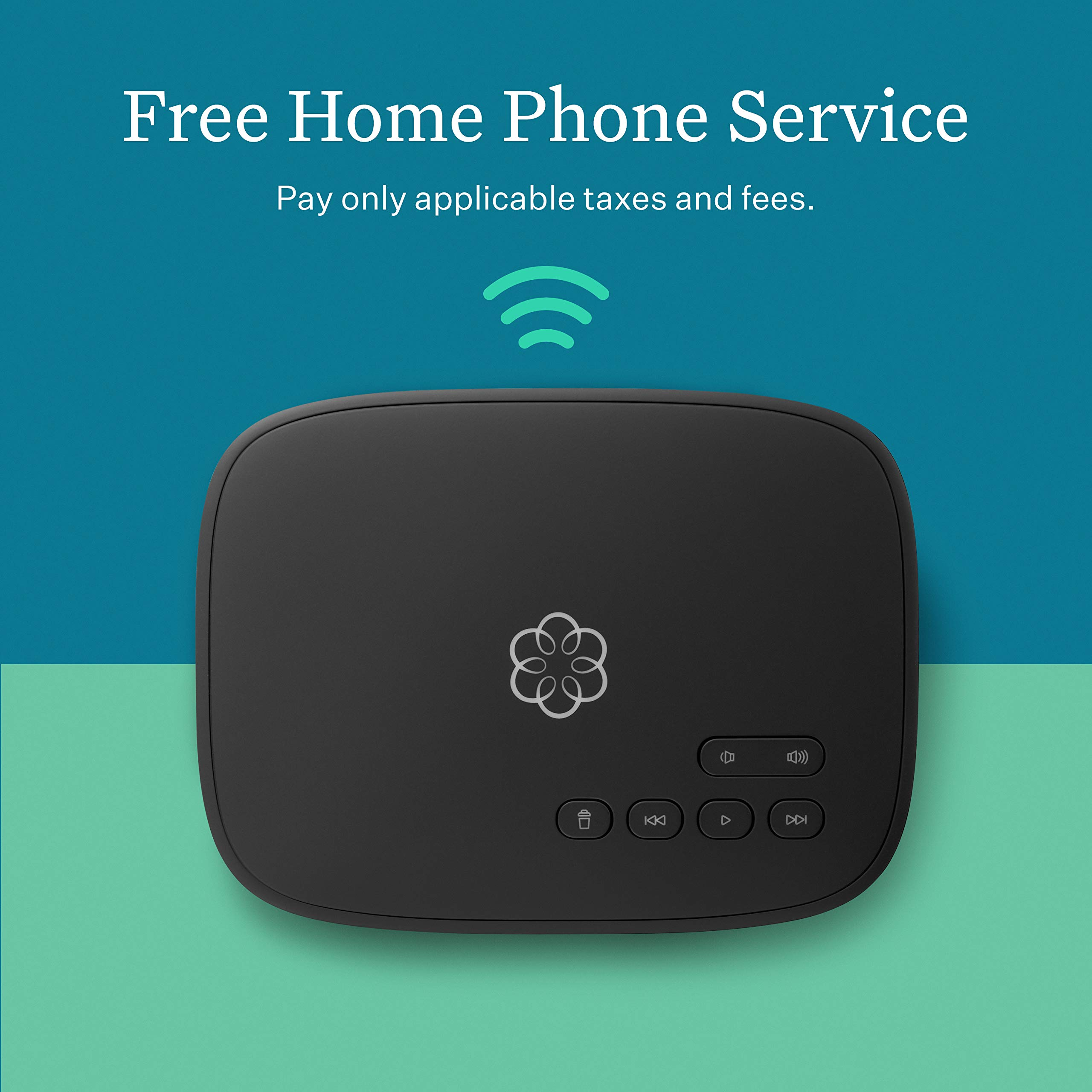 ooma Telo Air 2 Free Home Phone Service with WiFi and Bluetooth Connectivity by ooma
