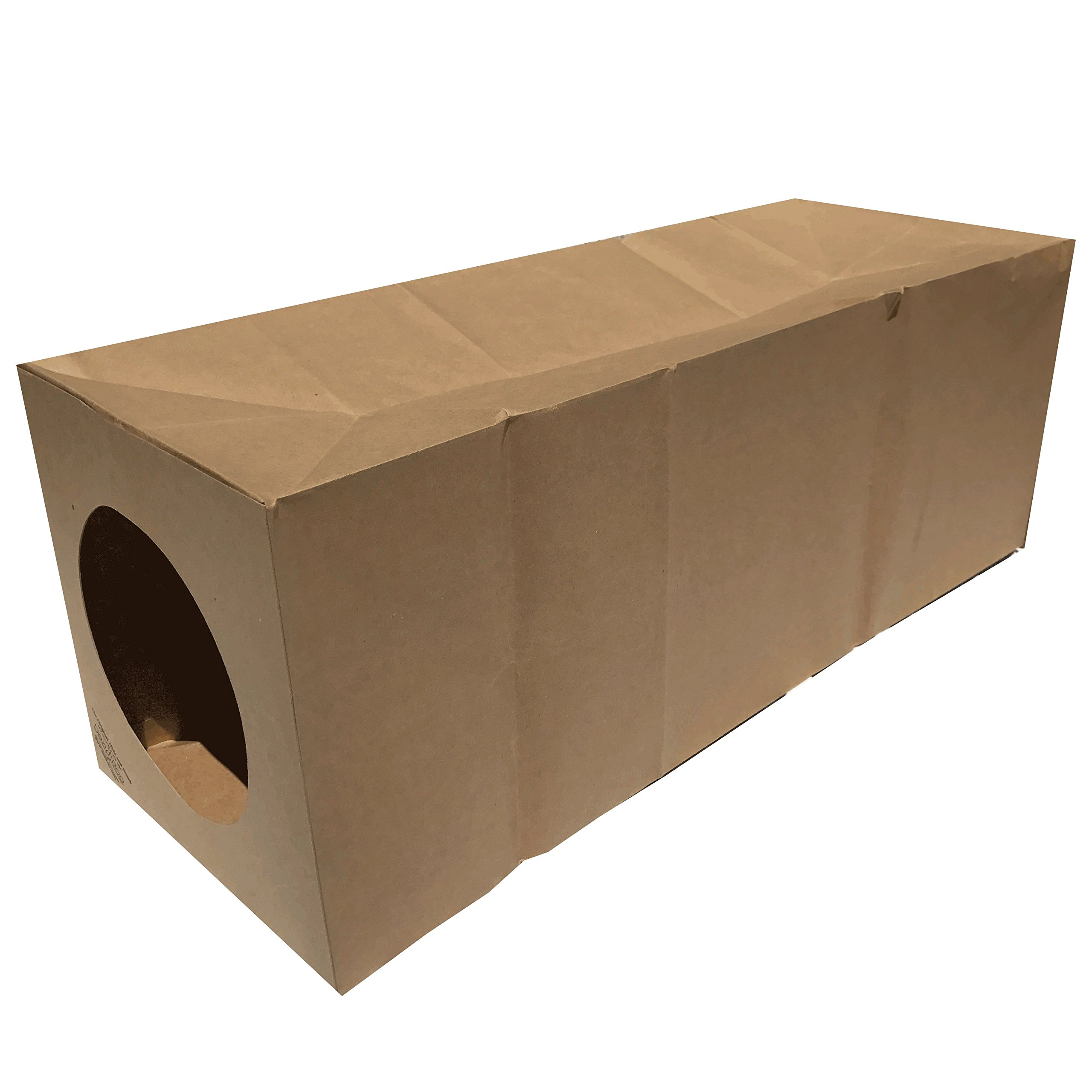 Dezi & Roo Hide and Sneak Collapsible Paper Cat Tunnel Made in The USA -Your Cat's New Favorite Toy - Fun Interactive Cat Toy - Activity Play Tunnel - Hidewaway by Dezi & Roo