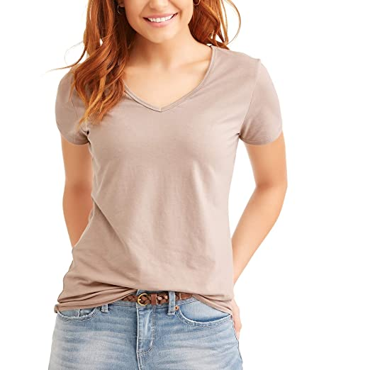 a96bda88c TIME AND TRU Women Fitted Knit Top Short Sleeves V-Neck (XX-Large ...