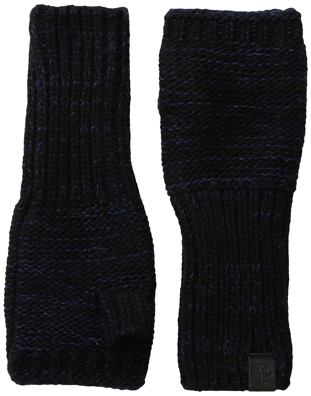 Original Penguin Men's Variegated Knit Fingerless Glove Black One Size PNH0480