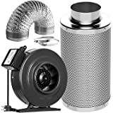 VIVOSUN Air Filtration Kit: 6 Inch 440 CFM Inline Fan, 6'' Carbon Filter and 16 Feet of Ducting Combo