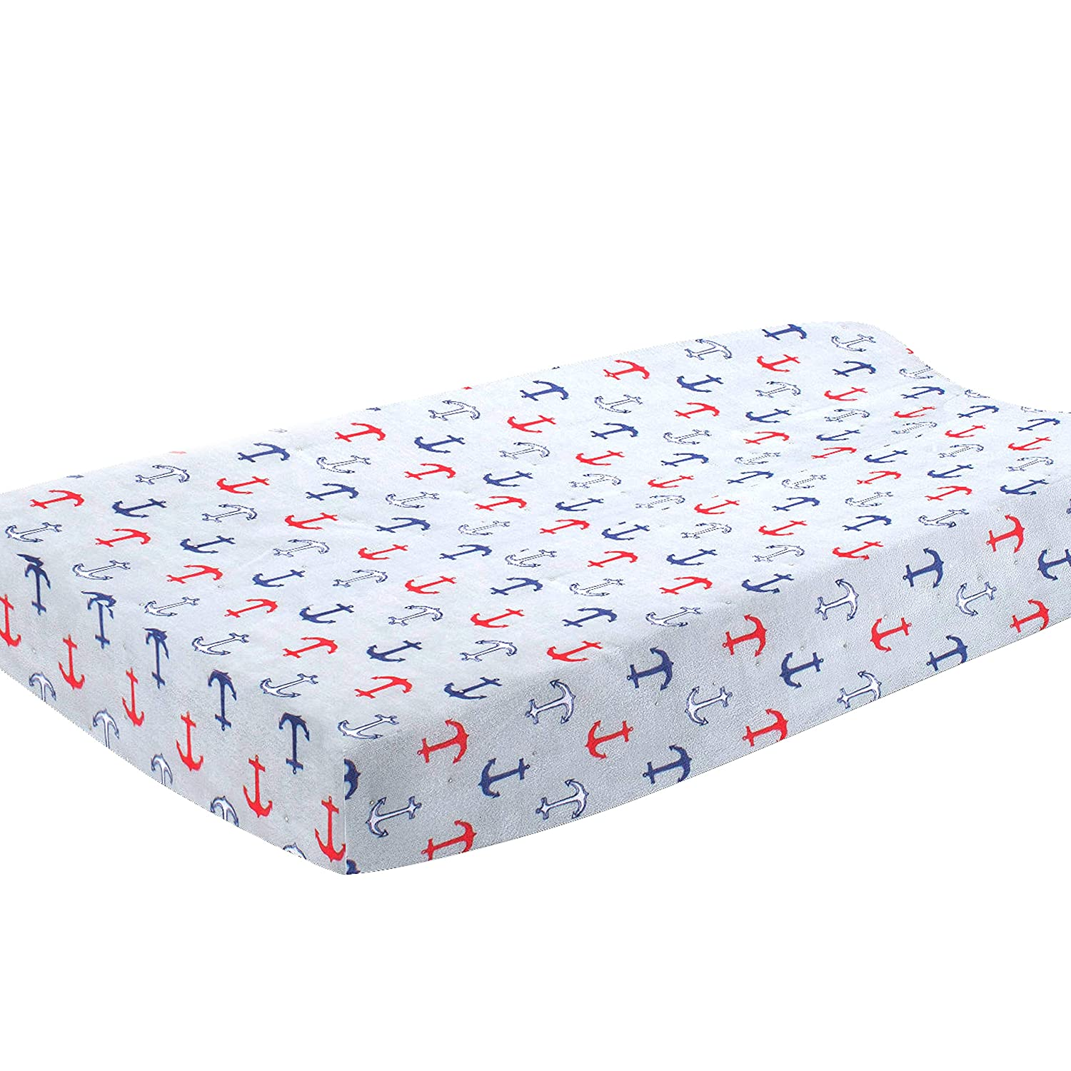 Blue//Red Pam Grace Creations 6 Piece Anchors Away Crib Set