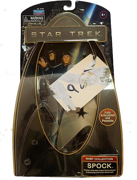 Star Trek Warp Collection Spock with Silver Starfleet Emblem Figure Stand