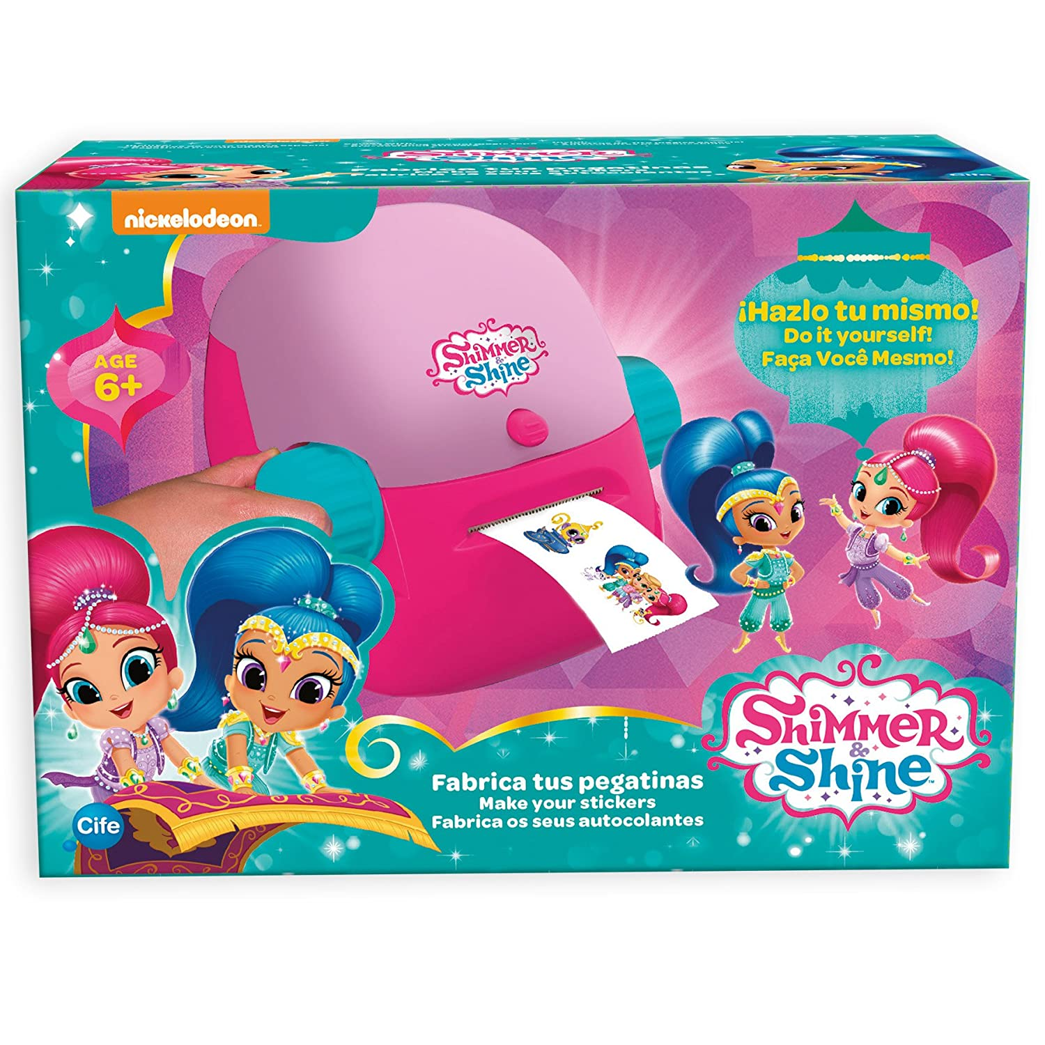 Shimmer and Shine Fabrica tus pegatinas Cife Spain