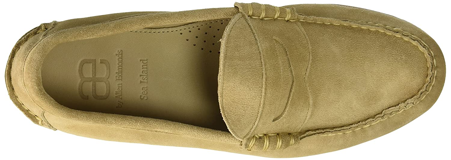 Allen Edmonds Mens Sea Island Penny Loafer Loafers D Shoes Casual Slip On England Suede Brown Ons