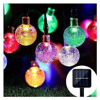 Weihnachtsdeko Lichterketten Außen.Solar Lichterkette Mr Twinklelight 4 5m 30er Led Lichterkette Außen Kristall Kugeln Garten Licht Für Garten Terrasse Zuhause Weihnachtsdeko