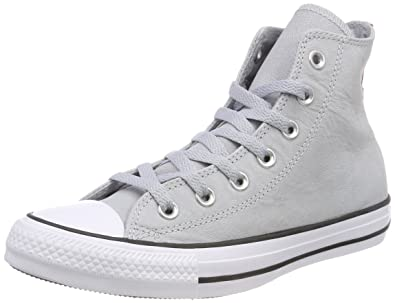 efe147abf91 Converse Chuck Taylor All Star Fashion Leather Hi Shoes (11 M US) Wolf Grey
