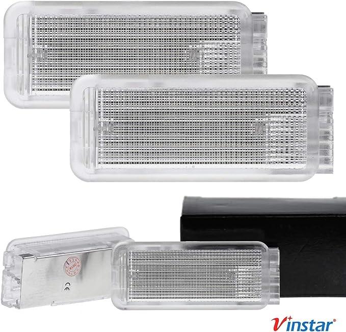 Vinstar 2x Led Fußraum Beleuchtung Kompatibel Mit Citroen C3 C5 C6 Ds3 Xantia Auto