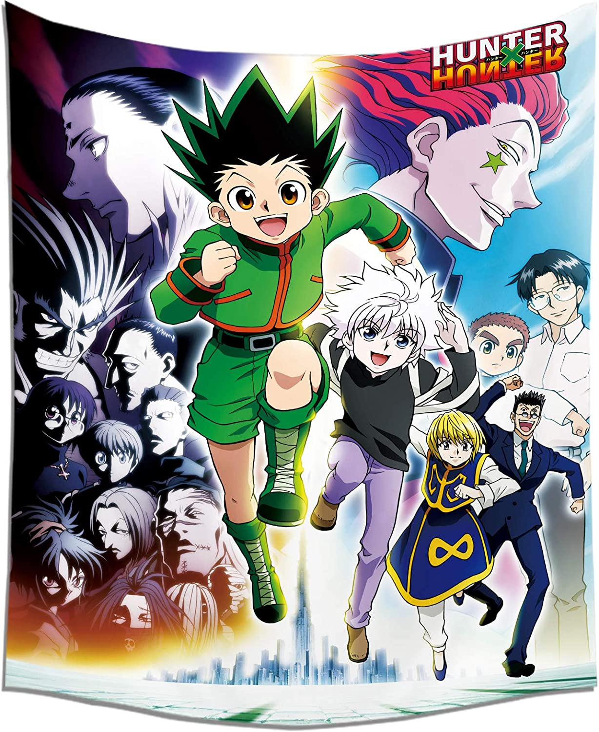 PIEHIK Anime Hunter X Hunter Tapestry - Wall Hanging for Home Decoration 50x60in