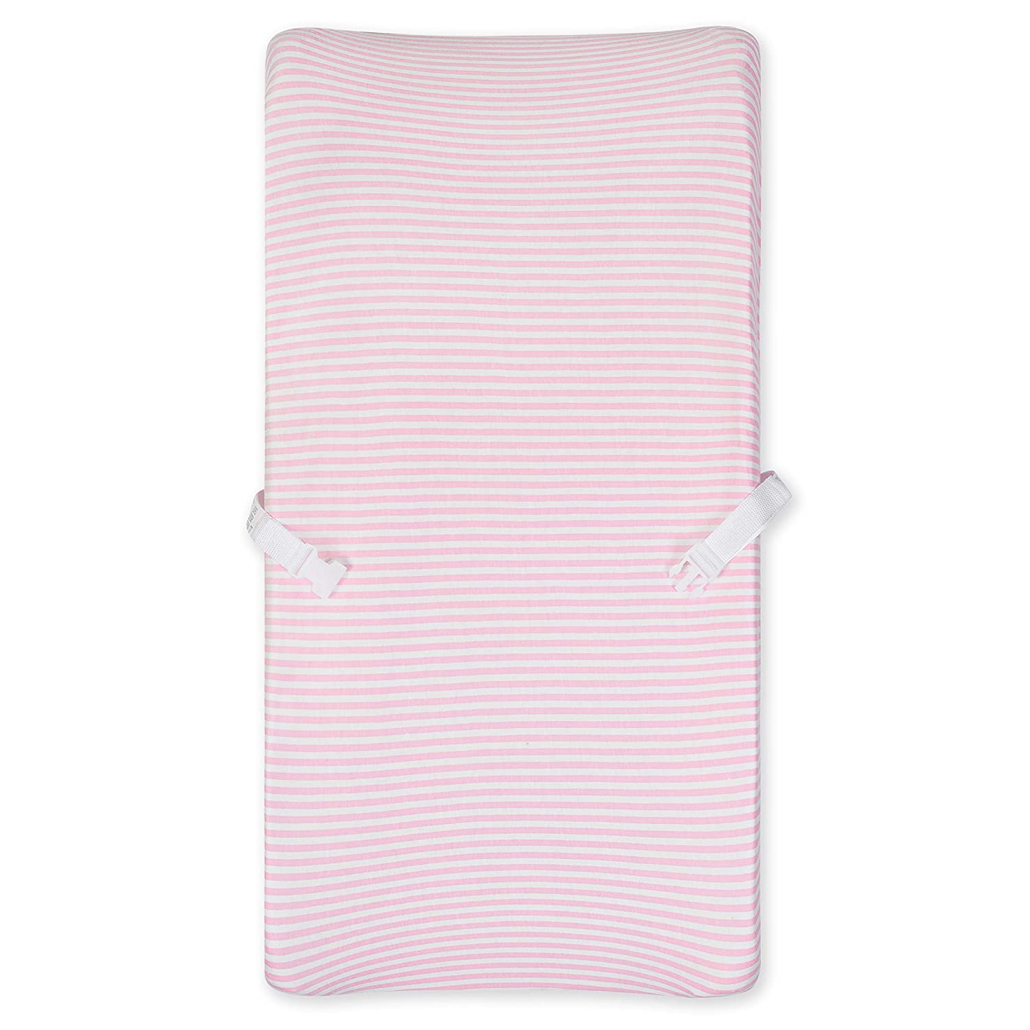Gerber Boys and Girls Newborn Infant Baby Toddler Nursery 100% Organic Cotton Jersey Changing Pad Cover, Pink Stripe, One Size