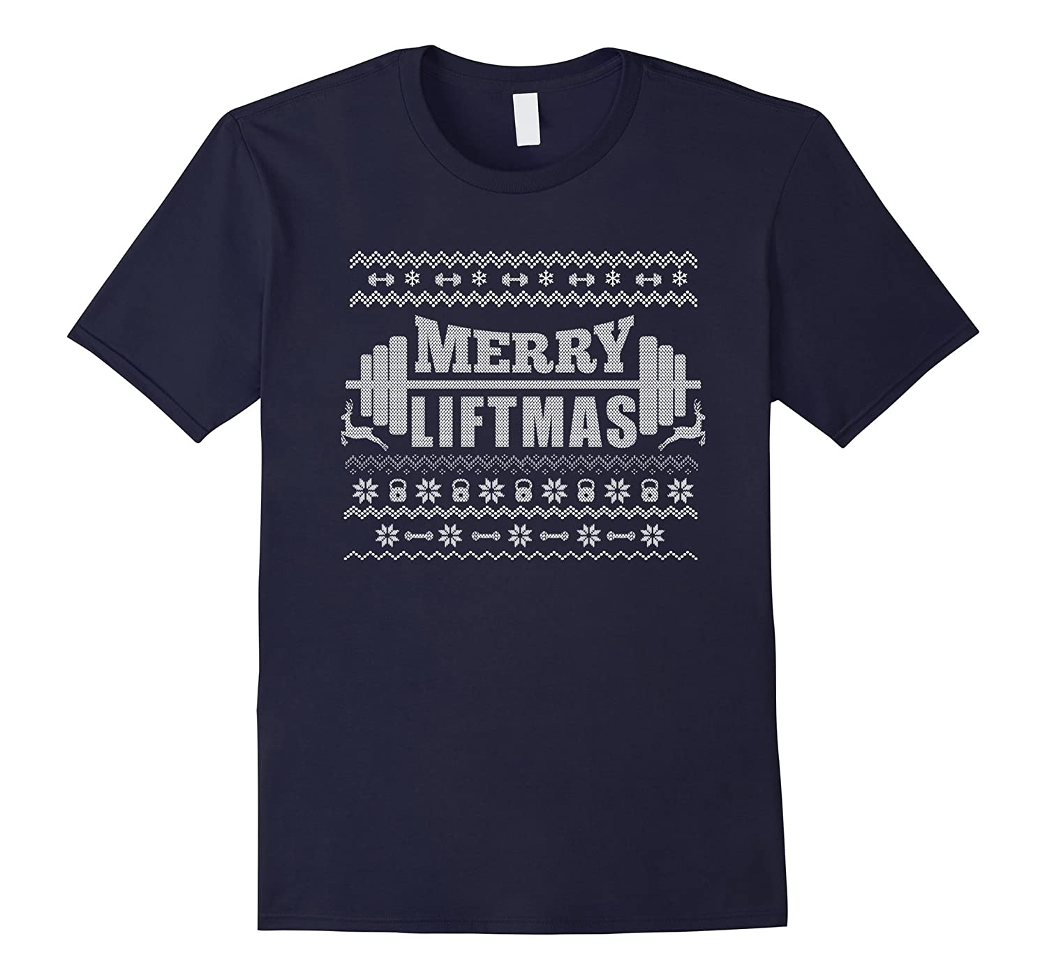Merry Liftmas T-Shirt Funny Ugly Christmas Workout Tee-ANZ
