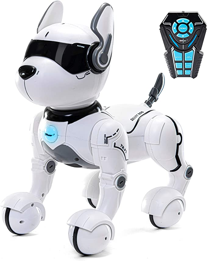 Top Race TR P5 Remote Control Dog Smart Mini Pet Dancing to Beat Puppy Dogs & Imitates Animals RC Robots Gift Toys for Kids Children Adults Boys Girls