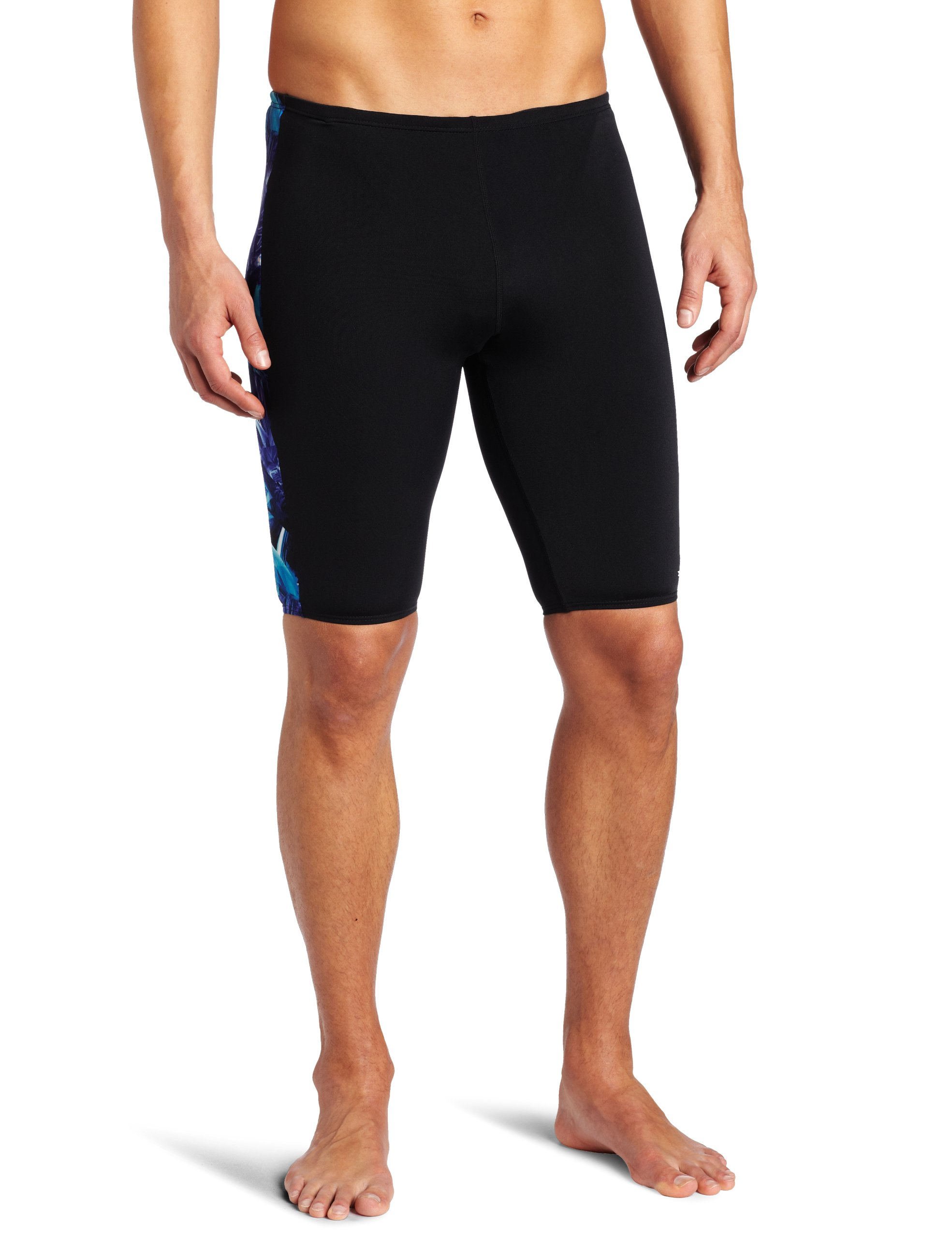 TYR Sport Men's Firerock Splice Jammer Swim Suit (Blue, 32)