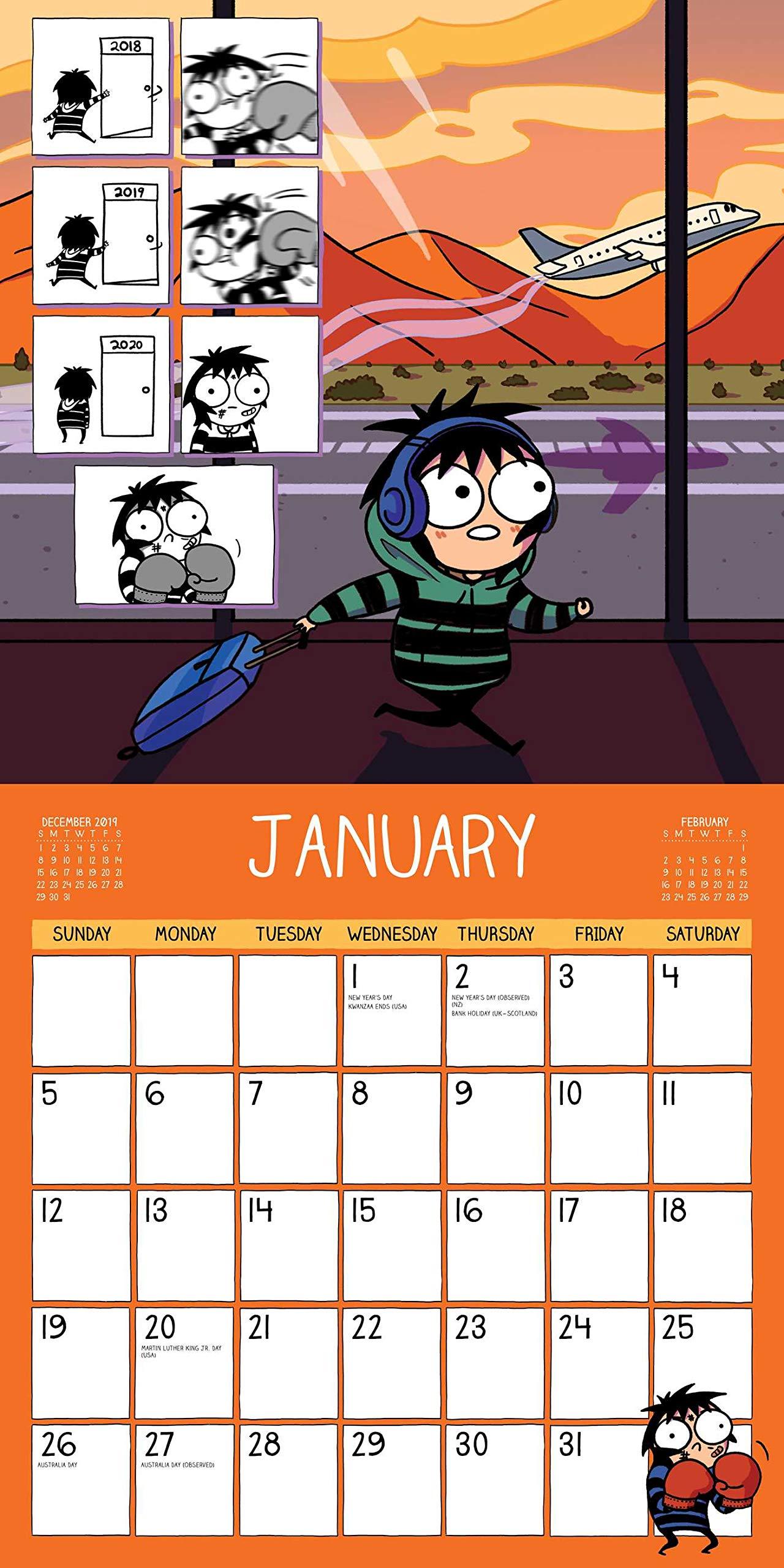 Sarahs Scribbles 2020 Wall Calendar: Amazon.es: Sarah ...