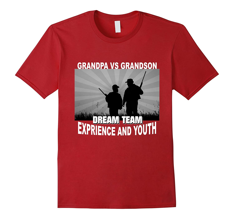 Dream Team Funny T-shirt for Grandpa and Grandson-TD