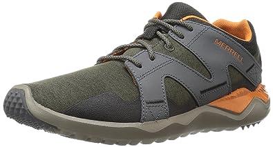 Merrell 1six8 Lace M, Chaussures de Gymnastique Homme - Marron - Fango/Arancione, 41.5 EU
