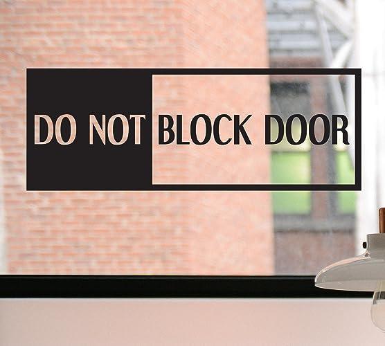 Do not block door decal do not block door sign do not block door