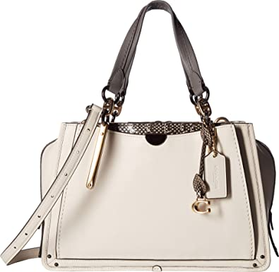 COACH Women s Dreamer in Exotic Mixed Leather Li Chalk One Size  Handbags   Amazon.com d12450f32f0d7