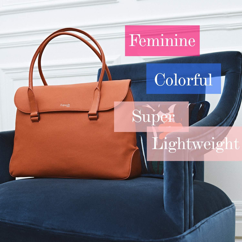 Lipault - Plume Elegance Tote Bag - 15.6'' Laptop Top Handle Shoulder Handbag for Women - Ruby by Lipault (Image #7)