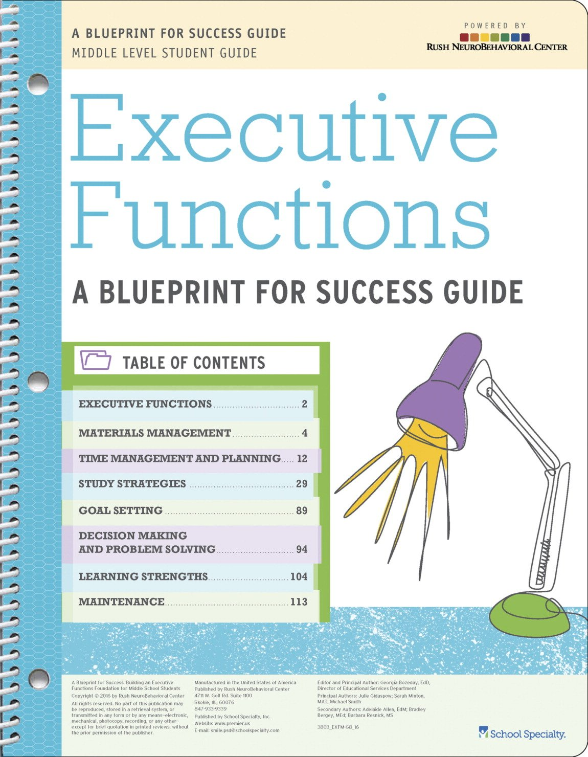 rush executive functioning curriculum