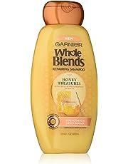 Garnier Whole Blends Honey Treasure Repair Shampoo. Split Ends and Breakage Remedy, Paraben-Free, 370 ml