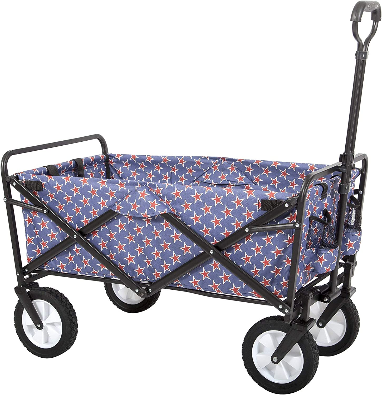 Mac Sports Collapsible Folding Outdoor Utility Wagon, Americana