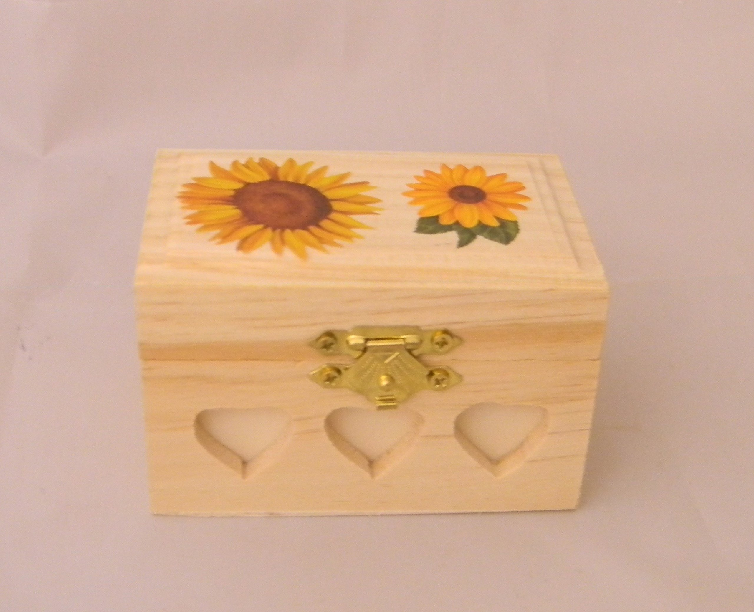 Wedding Ceremony Party Sunflower ring bearer pillow Box
