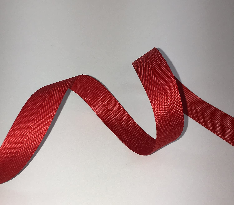 RP RIBBON Cinta de sarga de algodón con espiguilla, Rojo, 38 mm x 5 m: Amazon.es: Hogar